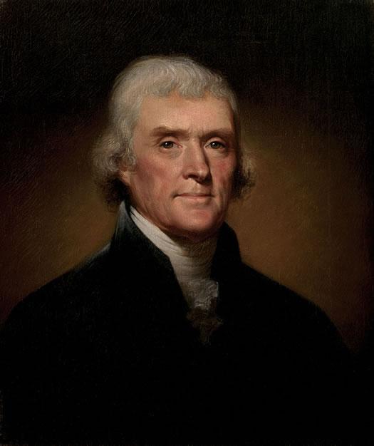 thomas jefferson presidential portrait