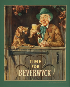 time for Beverwyck beer ad Albany Institute
