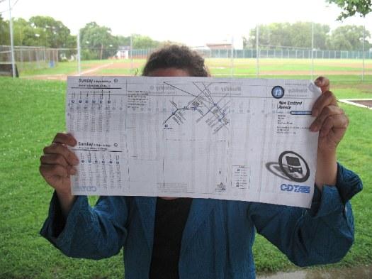 TQL holding a CDTA map