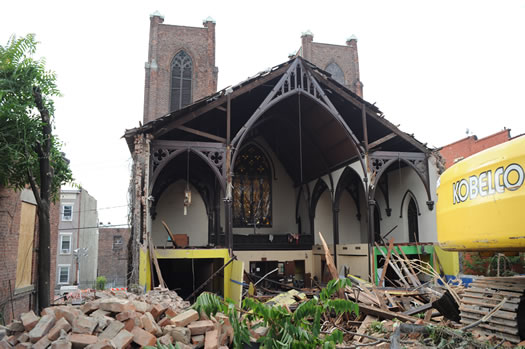 trinity church demolition chuck miller small