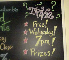 trivia blackboard sign