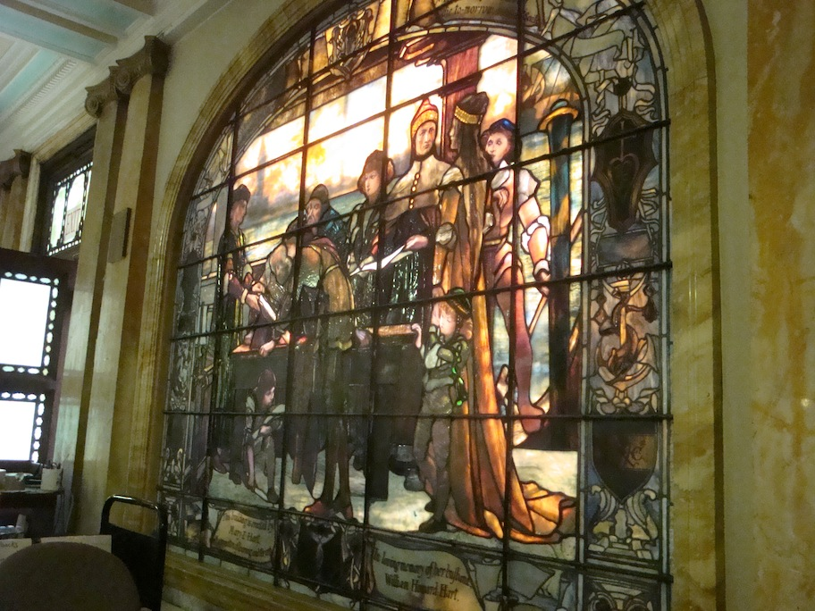 Tiffany window in Troy Public Library