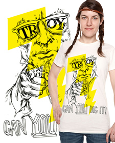 troy can you dig it t-shirt design