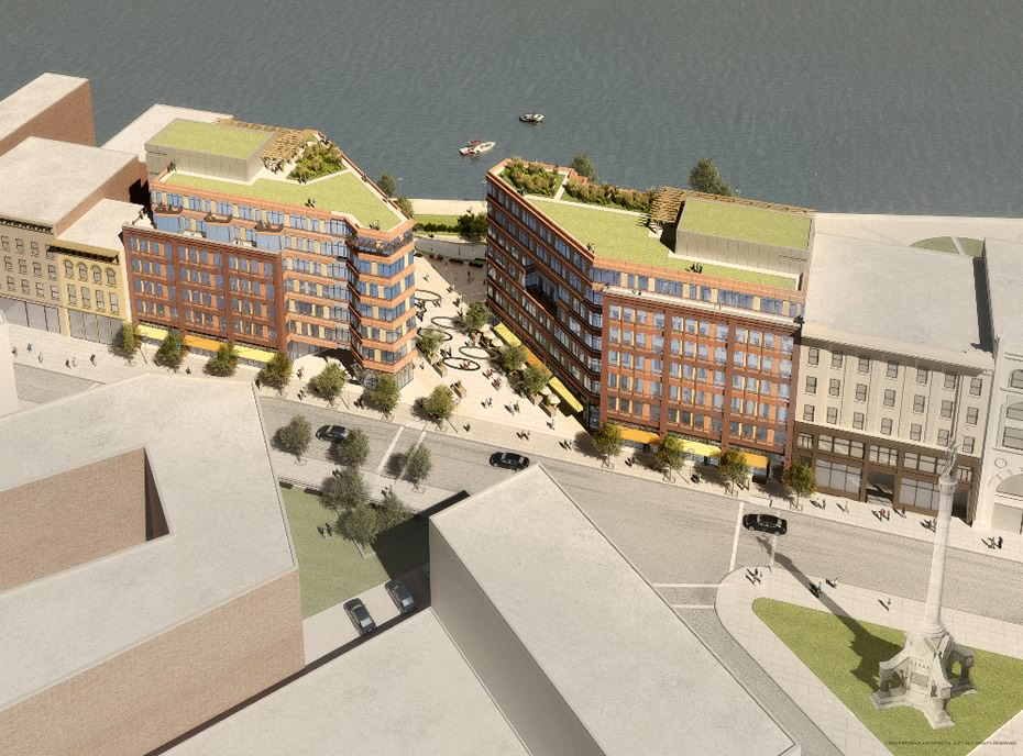 troy city center rendering from streetside large
