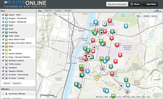 troy crime map
