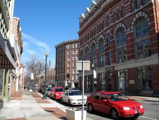 Troy empty sidewalk
