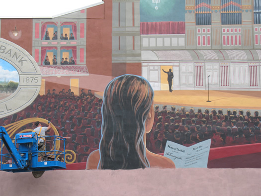 Kevin Clark troy music hall mural