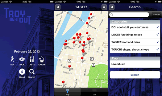troy night out app screenshots