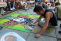 troy river street festival street painting 2012 by arts center of capital region