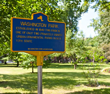 troy washington park historical marker