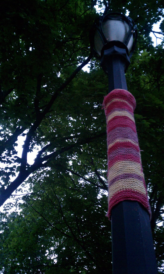 troy yarnbomb closeup