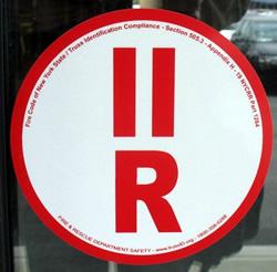 truss id sticker