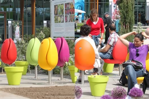 Because it 39 s park furniture shaped like a tulip all over for Park chair design