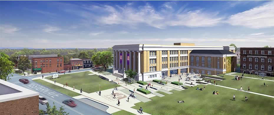 ualbany engineering college downtown campus rendering