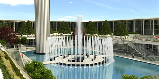 ualbany fountain renovation rendering as seen on parks and rec