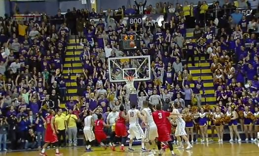 ualbany peter hooley last second shot America East championship