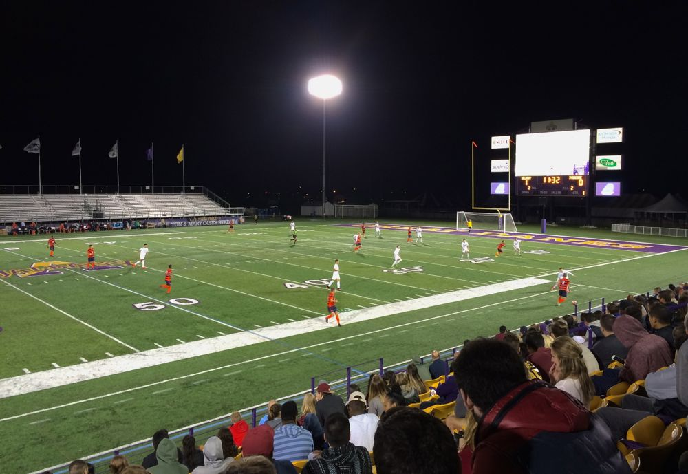 A Night Match On The Pitch All Over Albany