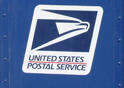 usps logo on mailbox