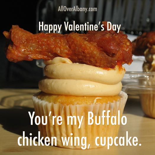 valentine chicken wing cupcake 2012
