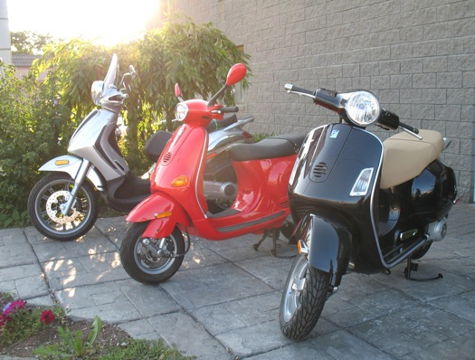 Vespas at Schenectady dealership