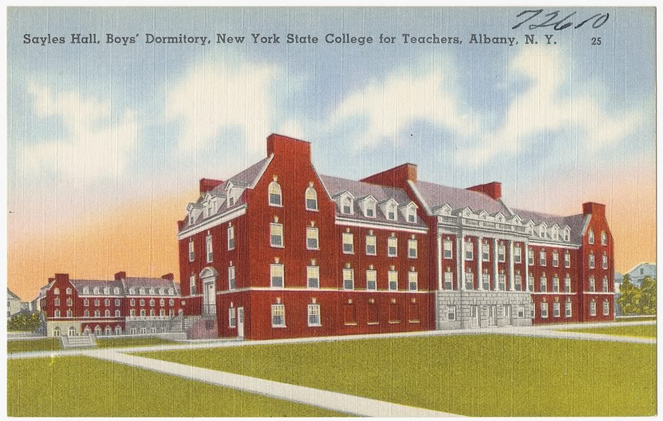 vintage_Albany_postcards_NYS_College_for_Teachers_dorm_UAlbany_downtown.jpg