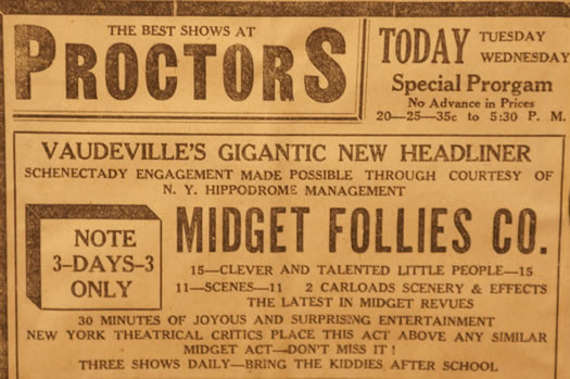vintage ads katie Midgets at Proctors crop