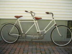 vintage tandem bike 