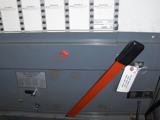 voting machine lever arm