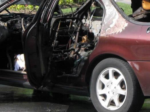 washington park car fire closeup