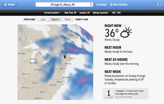 weather.io screenshot