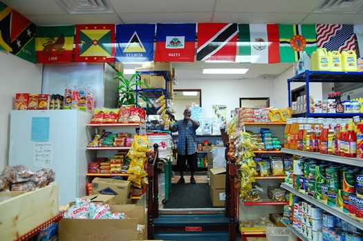 west indian grocery view of store looking back