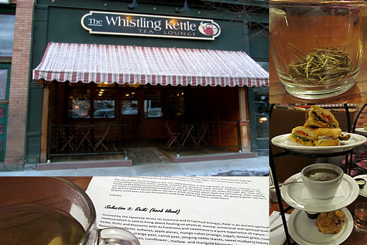 whistling kettle tea tasting composite