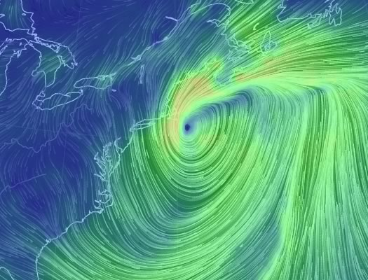 wind map noreaster 2015-01-27