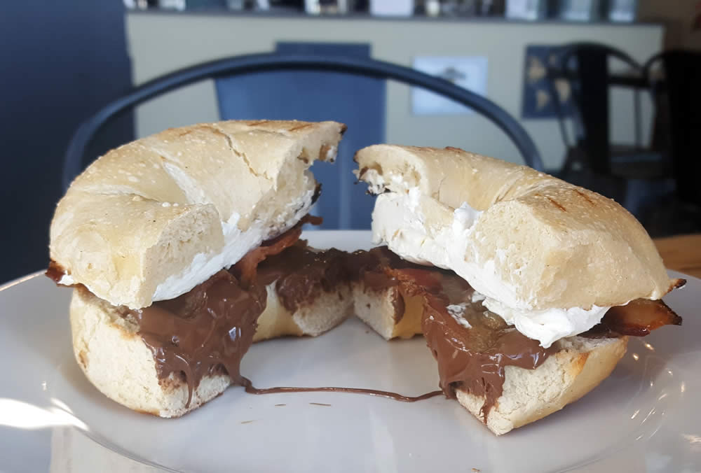 wired coffee nutella bacon bagel