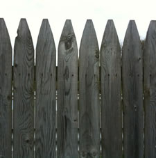 backyard wood fence