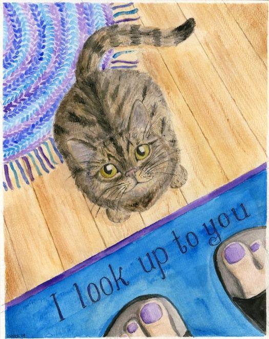 Look Up Kitty leelacat studio.jpg