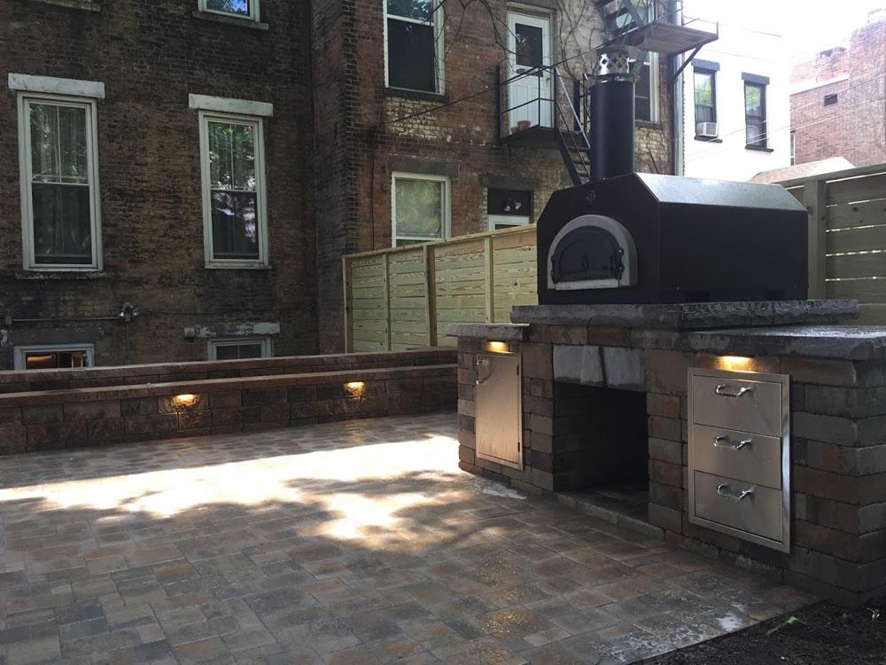 Startup2018 Katahdin Stone Works patio oven fence