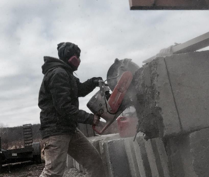 Startup2018 Katahdin Stone Works sawing concrete