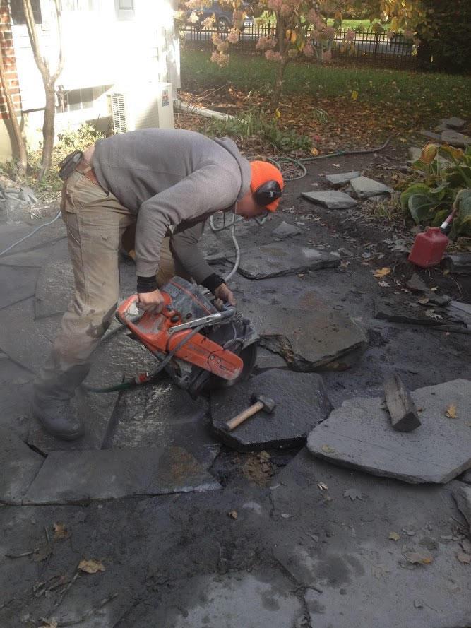 Startup2018 Katahdin Stone Works sawing pavers